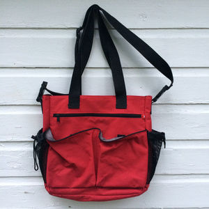 Spark by Skip Hop Red/Black Messenger Diaper Bag